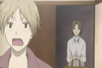 Natsume shocked at touko noticing him