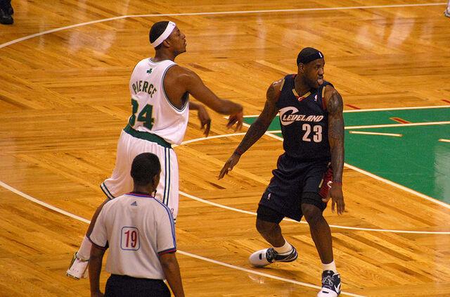 File:Paul Pierce LeBron James.jpg