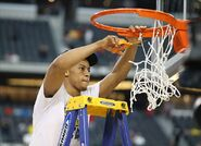 Trey cuts down the net