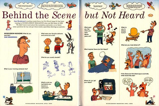 File:Nickelodeon Magazine comic Scene but Not Heard April 2000 sam henderson interview.jpg