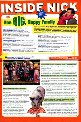 Inside Nick Nickelodeon Magazine Yours mine and Ours November 2005