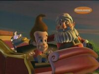 Santa with Jimmy Neutron