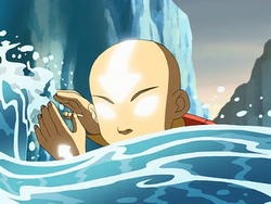 Avatar Aang waterbends
