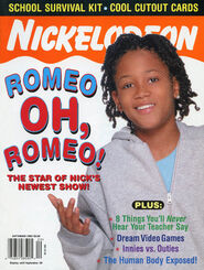 Nickelodeon Magazine cover September 2003 Lil Romeo Miller