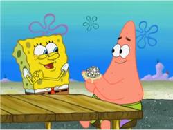 Patrick made googly eyes