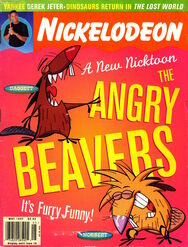 Nickelodeon magazine cover may 1997 angry beavers
