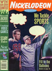 Nickelodeon Magazine cover October November 1994 We Tackle Sports