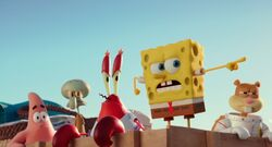 CGI SpongeBob and friends