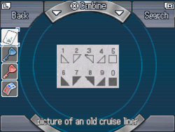 Picture of an old cruise liner reverse