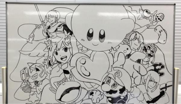 Super smash bros for nintendo 3ds and wii u nintendo for Easy whiteboard drawings