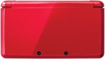 Metallic Red 3DS closed