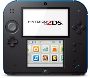Nintendo 2DS top hardware blue
