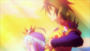 Sora and Shiro crowned