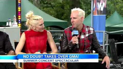 No Doubt interview on Good Morning America 2012
