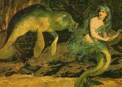 Sirenian and Mermaid