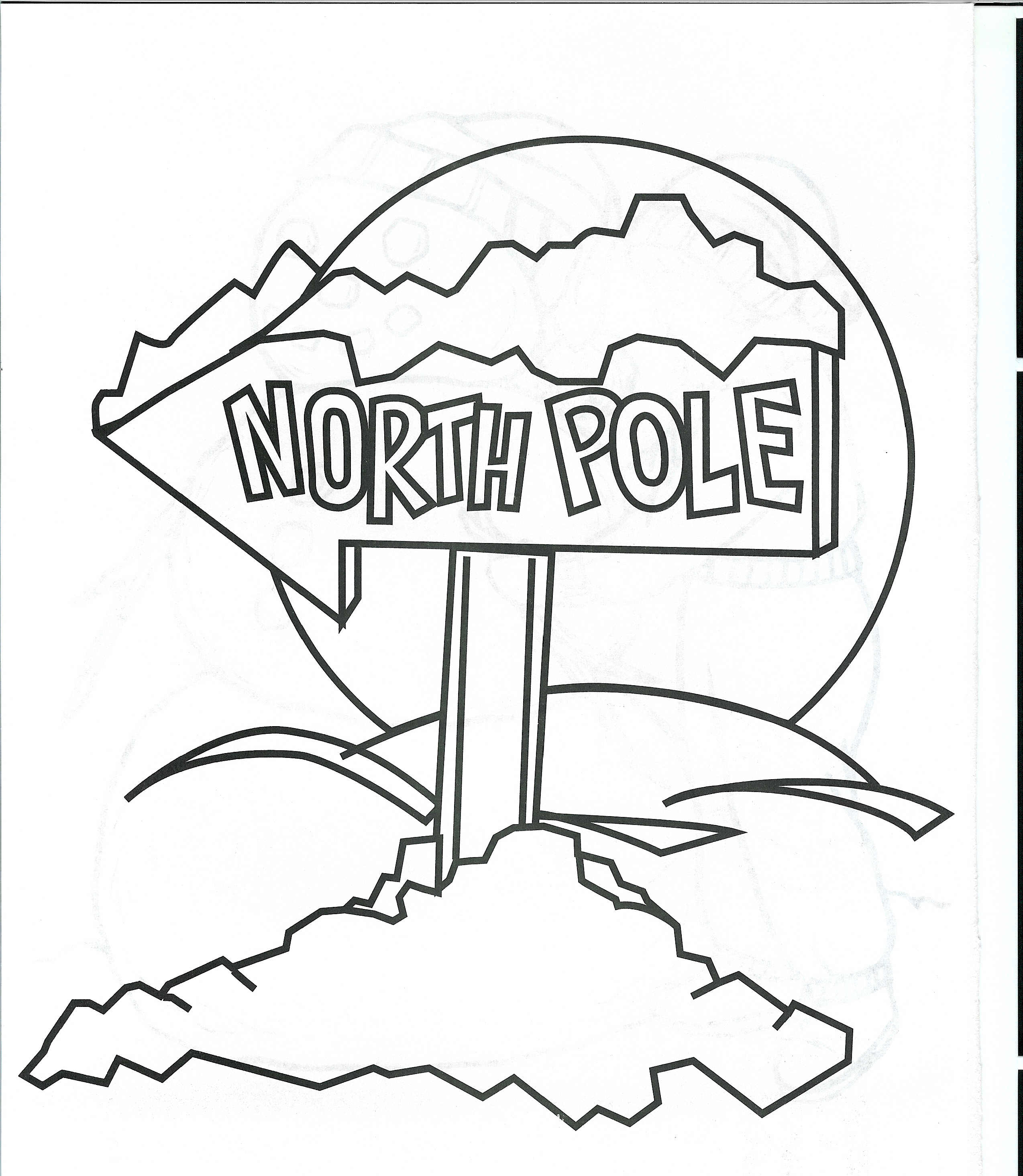 Coloring Pages North Pole Coloring Page north pole coloring page eassume com bear from totem templates coloring