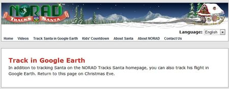 NORAD Tracks Santa - Google Earth - 2010 Before Xmas Eve