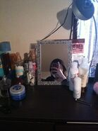 Nyantaro's makeup table