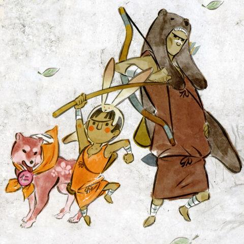 Kokari alongside Ume and Karude.
