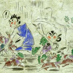 Artwork showing Mushi as an adult.