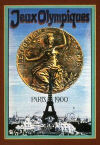 Paris 1900 Olympics Games Poster