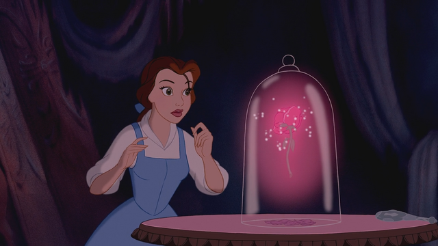 Fichier la belle et la b te disney belle cloche de verre rose enchant wiki once upon a - Rose sous cloche la belle et la bete ...