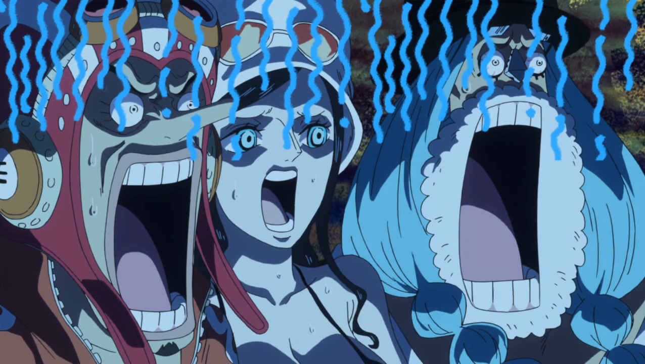 File:Usopp Robin and Franky Shocked.png