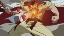 Sakazuki Attacks Whitebeard.png