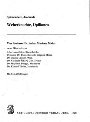 Martens 1978 Tierwelt - FACE PAGE