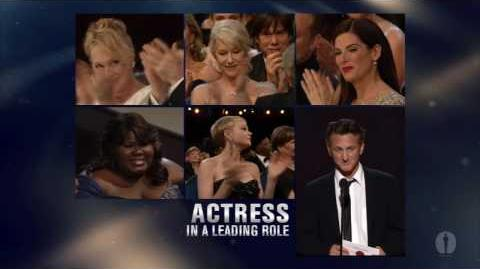 Sandra Bullock winning Best Actress