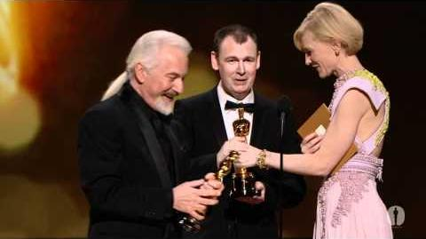 """""""The Wolfman"""" winning the Oscar® for Makeup"""