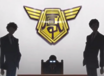 The ootori gorup logo with akito and yuuchi
