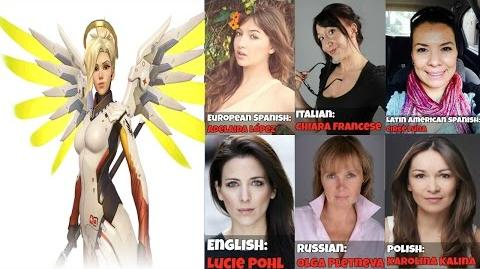 Overwatch Voice Actors Behind The Scenes - Mercy Voice Lines Overwatch Voice Actors