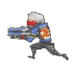 Soldier 76 Spray - Pixel