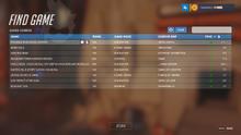 Game browser find game sample