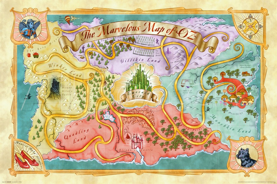 The Marvelous Map Of Oz Oz Wiki Fandom Powered By Wikia