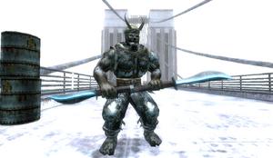Evil Samurai in Snowy Bridge