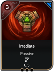 Irradiate card