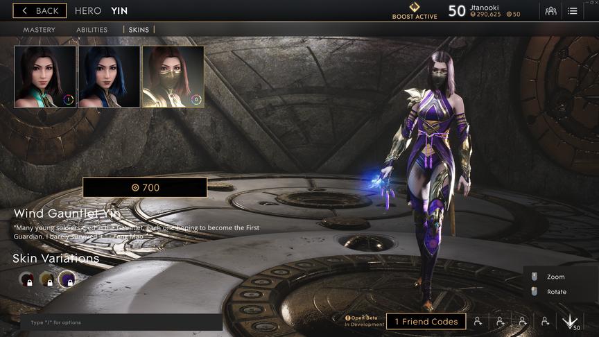 Yin Purple Wind Gauntlet skin