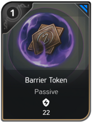 Barrier Token card