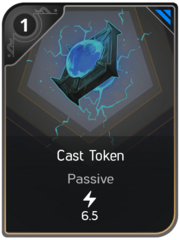 Cast Token card