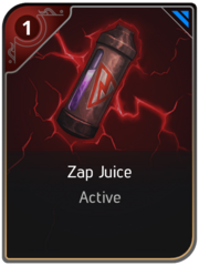Zap Juice card