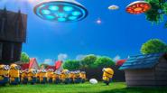 Minions look ufo