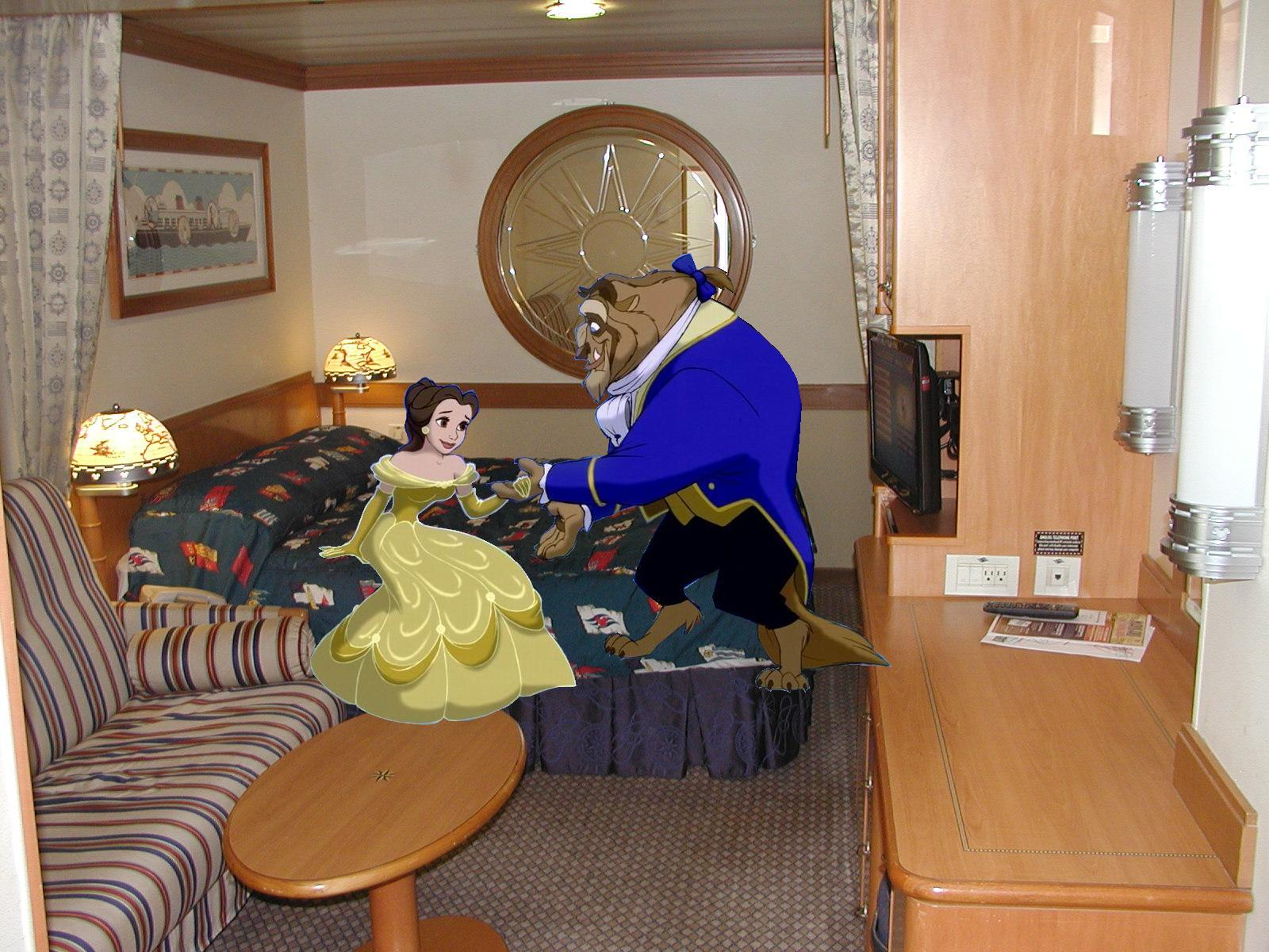Image Belle And Beast Join Disney Cruise Line Room PNG