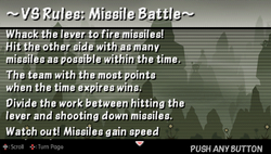 VS rules missile battle