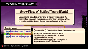 (Meanwhile... ) The Witch and the thunder beast quest info