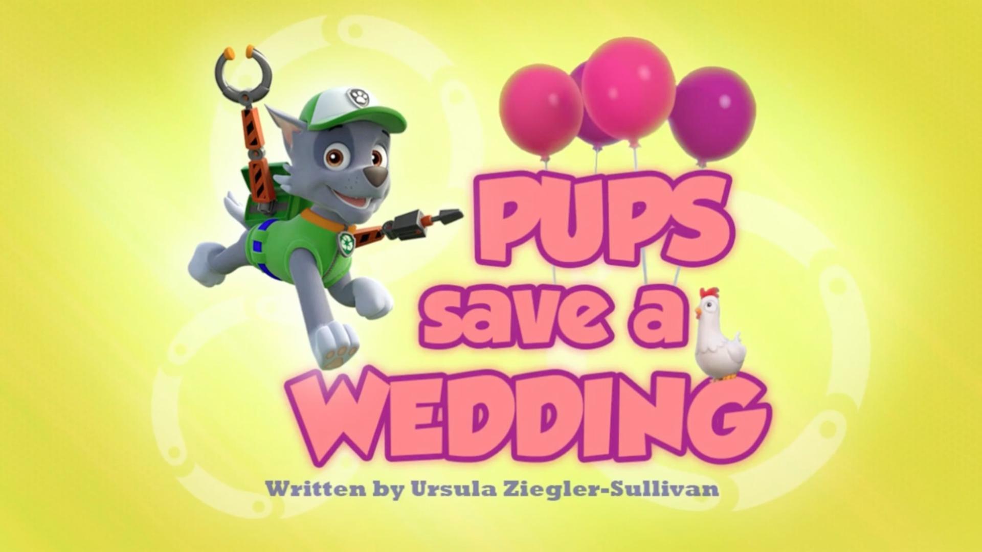 Pups Save A Wedding Paw Patrol Wiki Fandom Powered By