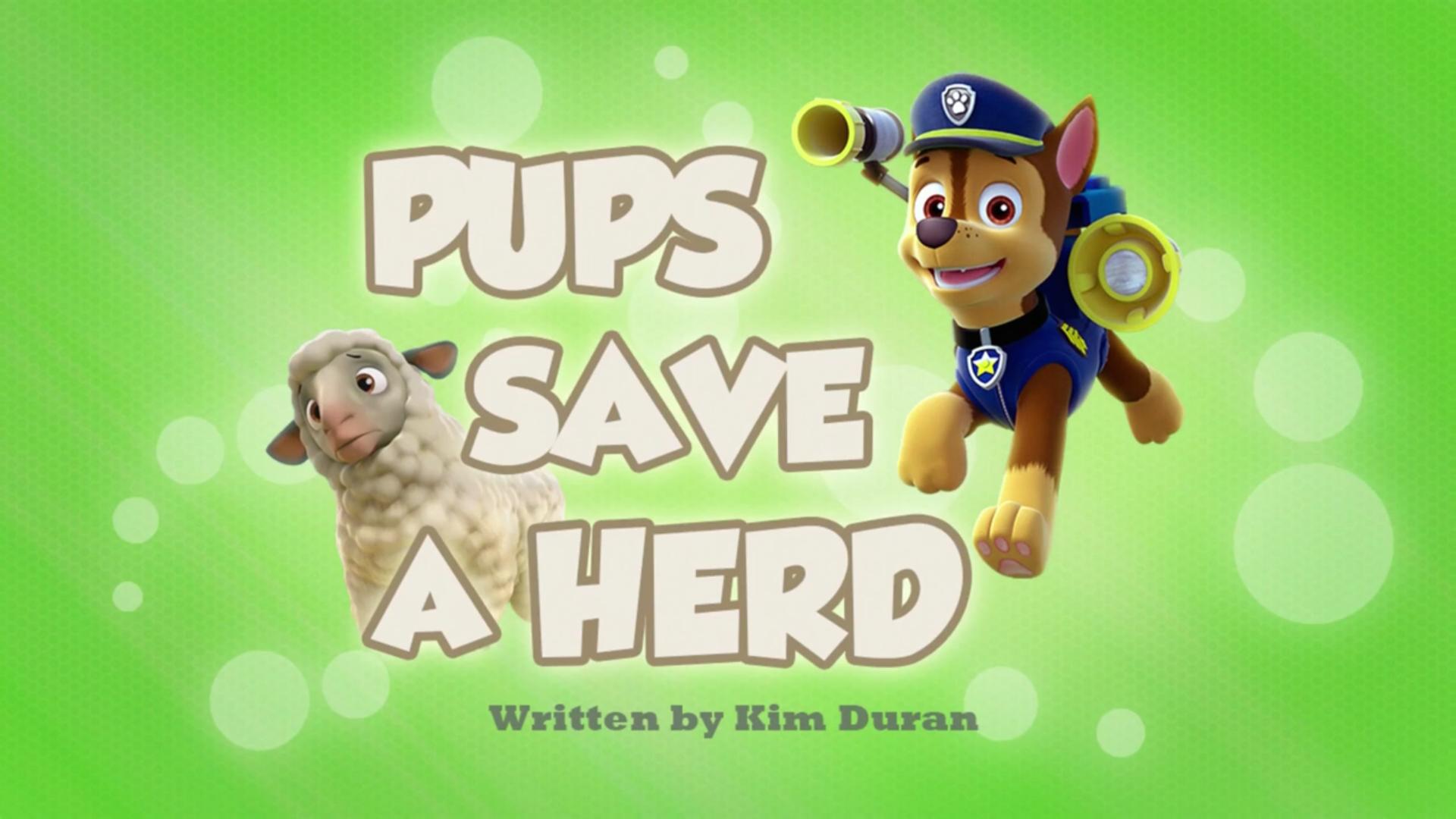 Pups Save A Herd Paw Patrol Wiki Fandom Powered By Wikia