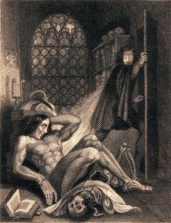 Frontispiece to Frankenstein 1831