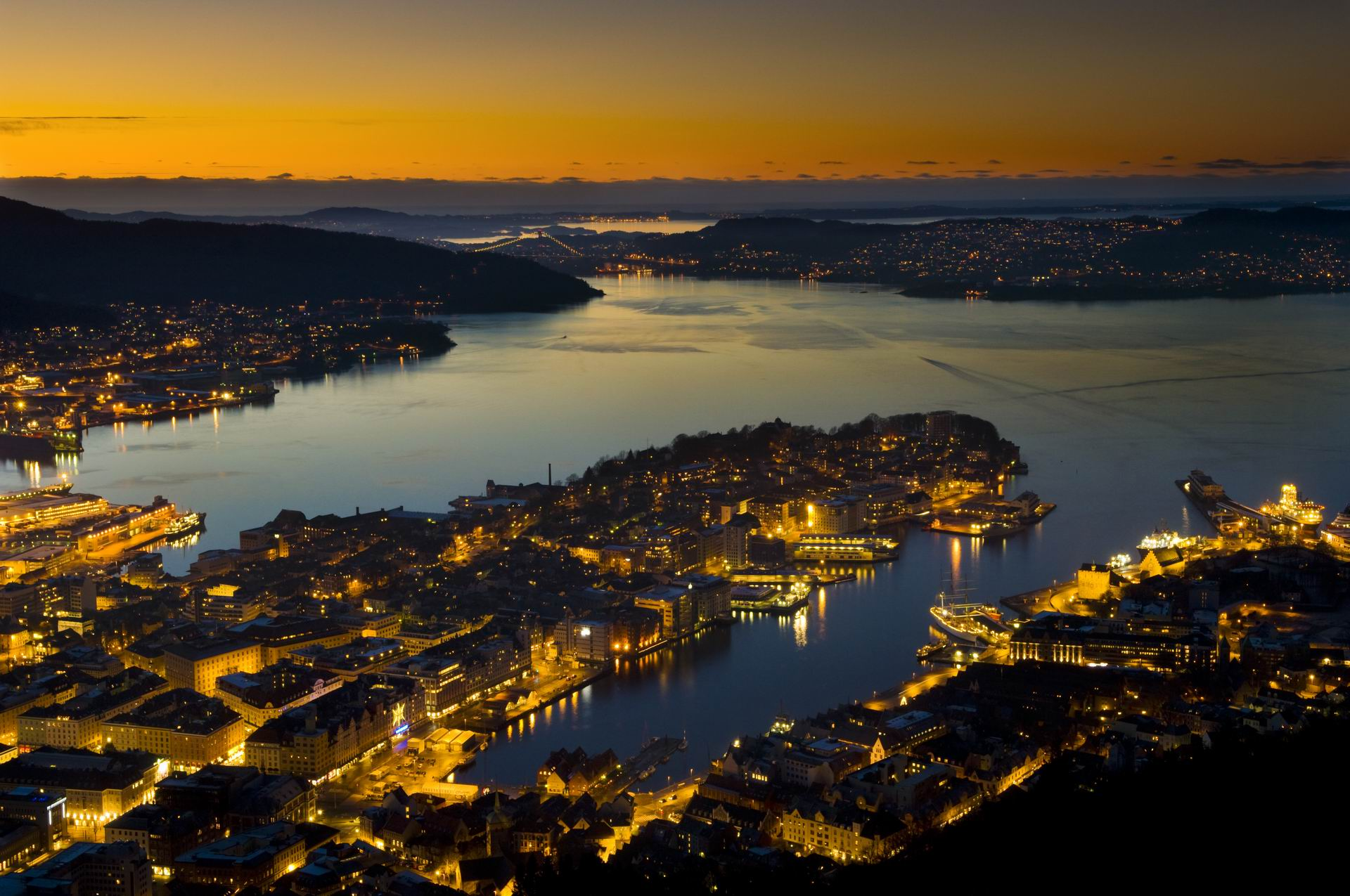 Bergen Chopper Tour - spectacular aerial views of Bergen, Norway ...